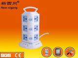 Alta calidad socket de la extensión de tres capas con USB 4