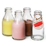 bouteille en verre transparente de /Glass de bouteille à lait 200ml pour le lait