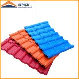 Azulejo de azotea español plástico plástico del azulejo de azotea del PVC del Asa del material para techos de azulejo de la resina sintetizada
