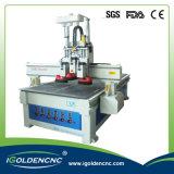 Máquina de gravura de madeira do CNC do cambiador de ferramenta automático