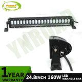 barra ligera Hola-Inferior de la viga LED de 24.8inch 160W para el Wrangler del jeep