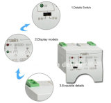 Interruptores de ruptura de carga 6A-63A do interruptor de transferência do ATS das energias eólicas