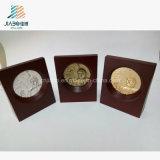 Plaque en métal d'or personnalisée pour souvenir