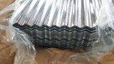 Azulejo de azotea galvanizado acanalado acanalado galvanizado cubriendo las hojas