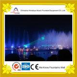 Il laser mostra la fontana di musica dell'acqua con le lampade multicolori
