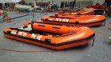 Barca gonfiabile di sport della barca di rematura della nave di soccorso di Canto12.4FT 3.8m con la piattaforma di alluminio del pavimento o del compensato o dell'aria con il CERT del Ce