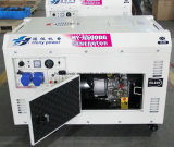 4打撃の電気開始5kwのディーゼル無声発電機セット