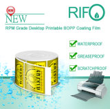 Rpm-90 étiquette le matériau de BOPP enduit par étiquettes pour l'imprimante à jet d'encre de bureau
