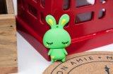 선전용 선물 만화 귀여운 백색 토끼 패턴 2.0 USB 섬광 드라이브 16GB 기억 장치 지팡이