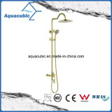 Faucet de bronze do chuveiro do banho do ouro Polished (ASH9981G)