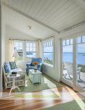 U字型白い純木浜様式の食器棚(WH-D251)