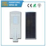 Il potere del sensore di movimento ha integrato tutti in un indicatore luminoso di via solare del LED