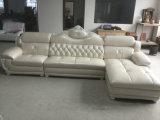 Sofá novo com frame de madeira, sofá antigo do couro do projeto (A38)