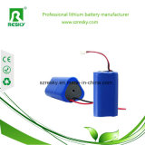 Ionenbatterie des Lithium-18650 11.1V 2200mAh für Staubkammer