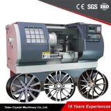 Máquinas de herramientas Awr2840 de la reparación de la rueda de la aleación del CNC del torno del CNC
