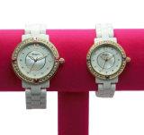Oro redondo de Rose de 2017 relojes y nuevo reloj de cerámica cristalino rojo