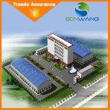 Edificio prefabricado de la estructura de acero del nuevo diseño para el mercado estupendo del hotel