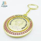 최고 판매 합금 주물 금 사기질 주문 동전 홀더 Keychain