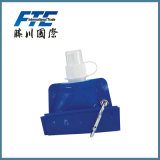 Botella de agua plegable/plegable del deporte colorido modificado para requisitos particulares del PE