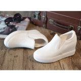 2017新しい方法白革は女性のスニーカー様式No.に蹄鉄を打つ: 偶然靴