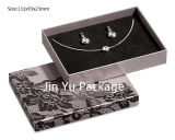Caixa de presente de embalagem de jóias de papel preto barato