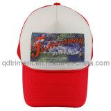 Cappello popolare del camionista della maglia del poliestere della spugna (protezione T-Rossa)