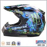 PUNKT schwarzer Motorcross Mattsturzhelm mit Graffiti (CR403)