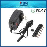UE nous chargeur universel manuel BRITANNIQUE d'adaptateur d'alimentation de C.C à C.A. 3V~12V de la fiche 30W avec le port USB 5V