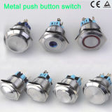 Stainless momentáneo Steel Push Button Switch con IP67 Protection