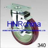Hochroter Belüftung-Schwenker mit Bremsen-Platten-Oberseite-Fußrolle