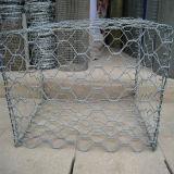 Recubierto de PVC galvanizado en caliente de gaviones caja / gaviones de malla