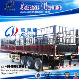Qualität 3 Axle 50-60t Stepwise Livestock Transport Fence Stake Speicher House Bar Semi Trailer (LAT9281CLXY)