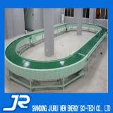 Grüner PU-Bandförderer für das Aufbereiten industriell