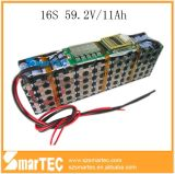 Lithium Ion Battery Pack 59.2V 16s 11ah voor Power Equipment
