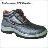Zapatos de acero de la seguridad en el trabajo de la punta de la inyección de la PU del cuero genuino