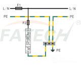 1 ограничитель перенапряжения полюсов B+C 7ka для TUV