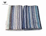 fashion Warm Acrylic Mohair 숙녀의 다색 줄무늬에 의하여 뜨개질을 하는 스카프