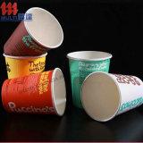 Taza de café de papel impresa insignia de encargo