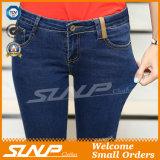 De nieuwe Hoge Taille Jean Pants van de Vrouwen van de Manier met Gat