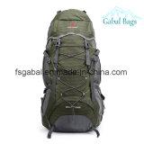 リュックサックのバックパックのキャンパスの荷物袋をハイキングする屋外旅行