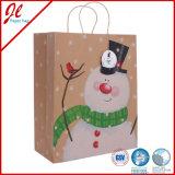 Het Winkelen van de Gift van Kerstmis de Zakken van het Document met Verdraaid Handvat