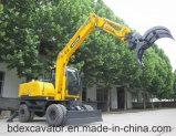 Carregador de madeira do máquina da garra da roda da máquina escavadora de Baoding/o de bambu e o de madeira/carregador madeira do bastão