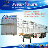 三車軸牛トレーラー、家畜はトラックのトレーラーの半囲を運ぶ