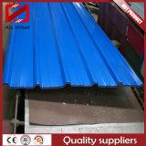 Feuille en acier ondulée galvanisée de toiture enduite par couleur de PPGI