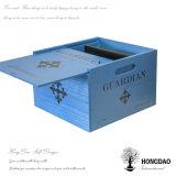 Hongdao는 뚜껑을 미끄러지는 파란 포도주 상자를 사라졌다