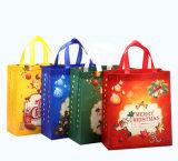 薄板にされたPPのクリスマスXmasの非編まれたショッピング・バッグのギフト袋