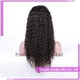 Peluca llena atada mano de calidad superior del cordón de las pelucas baratas al por mayor del pelo humano de la peluca del pelo humano con el pelo del bebé