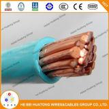 Кабель куртки Thhn/Thwn Weith медной изоляции PVC проводника UL83 Nylon
