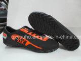 Qualitäts-Rot mit dunkle Farben-Fußball-Schuhen