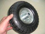 Neumático y tubo 4.10 / 3.50-4 para la rueda de la carretilla